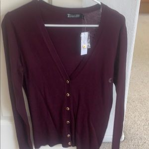 New York and Co V-Neck Cardigan size Med NWT